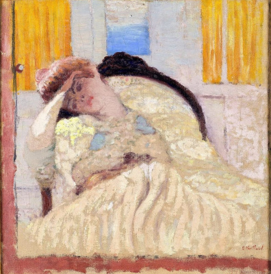 "Jean Edouard Vuillard. Portrait of Mysia in the chair ""not in the spirit"""