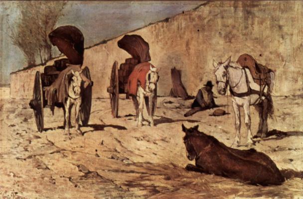 Giovanni Fattori. Roman chariot