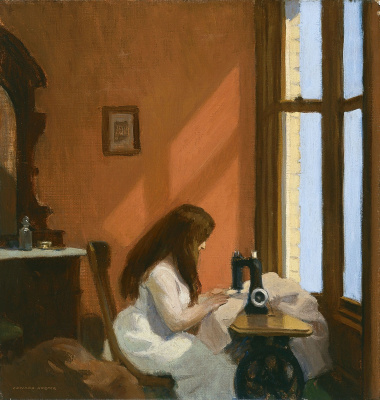Edward Hopper. The girl behind the sewing machine