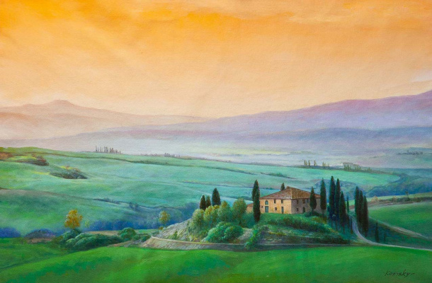 Savely Kamsky. Evening Tuscany