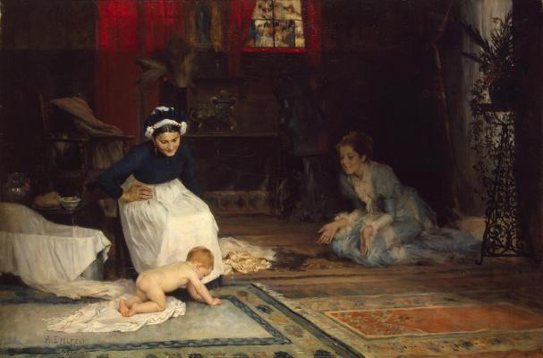 Альберт Густав Аристид Эдельфельт. В детской. 1885