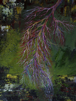 """Alla Struchayeva. The painting """"Sources of the Universe"""""""