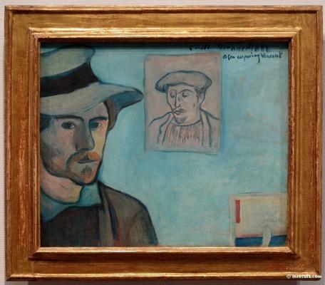 Emil Bernard. Self-portrait in a hat