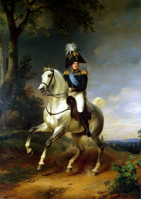 Франц Крюгер. Портрет Александра I верхом на коне