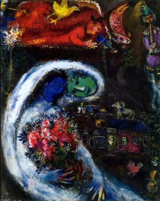 Марк Захарович Шагал. Невеста с синим лицом