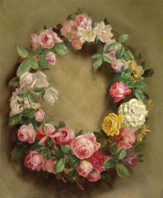 Pierre-Auguste Renoir. Wreath of roses