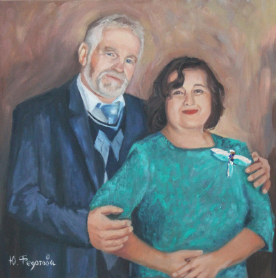 Julia Valerievna Fedotova. Loving couple