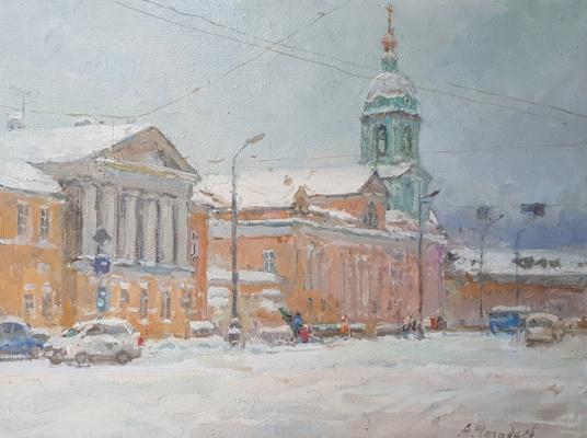 Aleksandr Chagadaev. Snowy winter