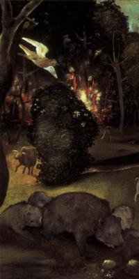 Пьеро ди Козимо. Лесной пожар. Фрагмент