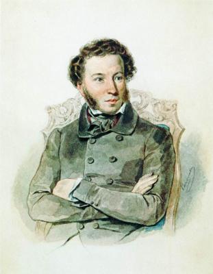 Петр Федорович Соколов. Портрет А.С.Пушкина. 1836