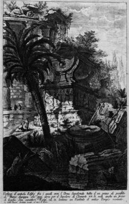 Джованни Баттиста Пиранези. Остатки античных зданий