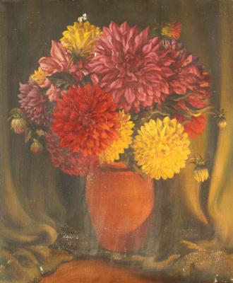 Неизвестный  художник. Цветы в вазе