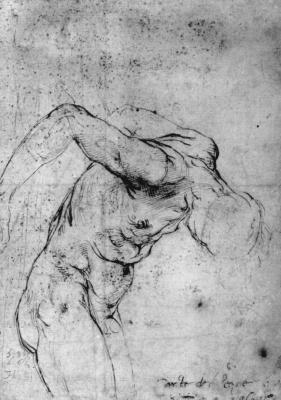 Raphael Sanzio. Naked the hanged man