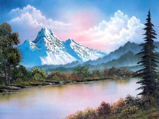 Bob Ross. Mountain range