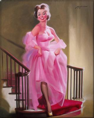 Дональд Руст. Девушка в розовом