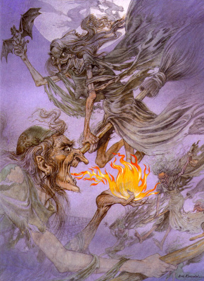 Eric Kincaid. Witches and fire