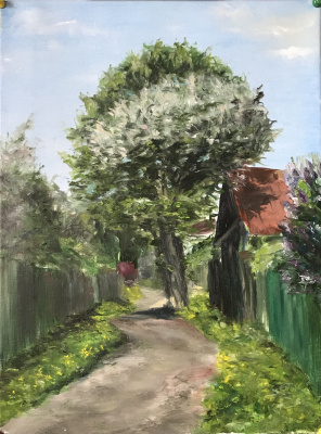 Svetlana Ivanova. Flowering pear. Lanes of Rostov-Great