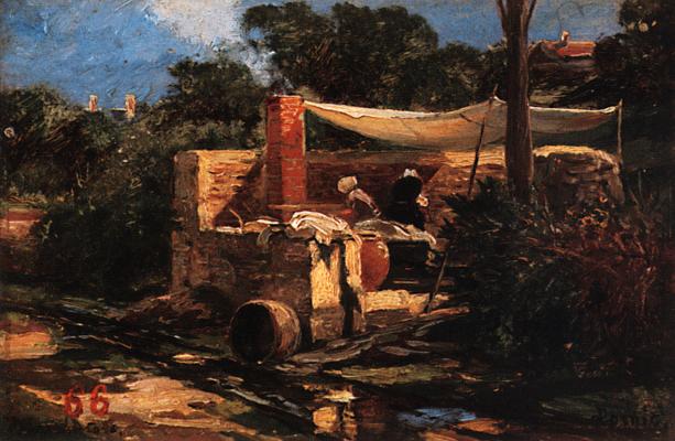 Alexey Petrovich Bogolyubov. Laundry in Pornic. France. Brittany Saratov State Art Museum. A.N. Radishcheva