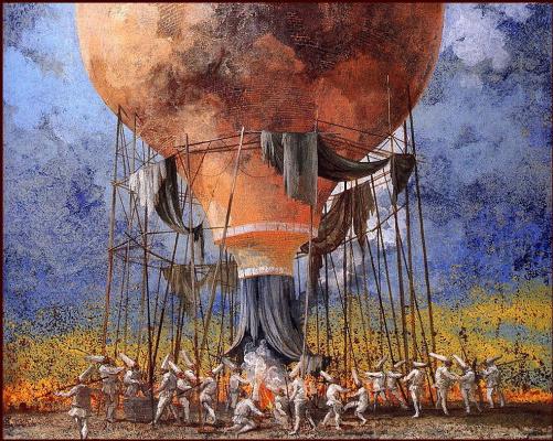 Карло Марчиори. Воздушный шар