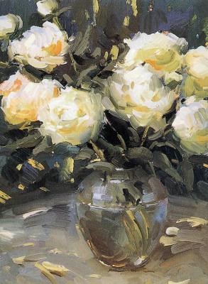 Ованес Берберян. Ваза с белыми цветами