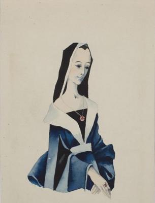 Виктор Дмитриевич Пивоваров. Монахиня. Иллюстрация к книге «Сказки и истории» Ганса Христиана Андерсена