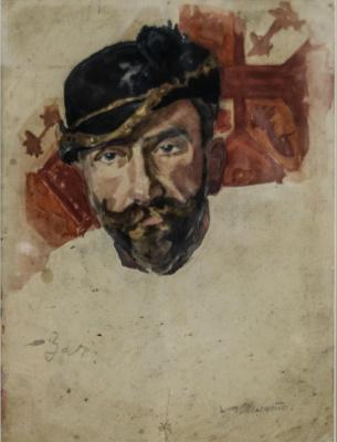 Nikolai Andreevich Shelyuto. Portrait of the artist