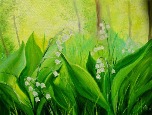 Victoria Fedorovna Humanenko. Fragrant lilies of the valley
