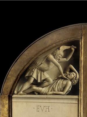 Jan van Eyck. The Ghent altarpiece. Cain and Abel (detail)