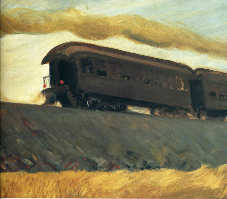 Edward Hopper. Train on the railway
