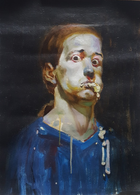 Yuri Pikul. Self-portrait
