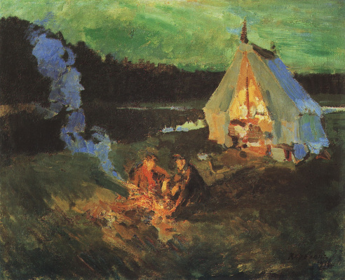 Konstantin Korovin. A halt of hunters