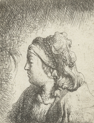 Jan Lievens. Profile of young woman