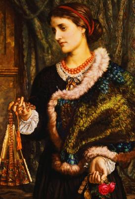 William Holman Hunt. Birthday. Portrait of Edith, second wife of the artist