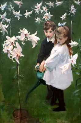 John Singer Sargent. Kids vickers in the garden