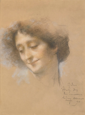 Lucien Levi-Durme. Portrait of a lady (probably Madame Hamdi). 1901