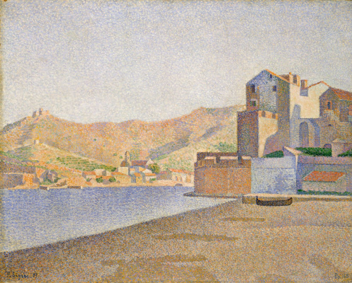 Paul Signac France 1863 - 1935. City Beach, Collioure, opus. 165 1887