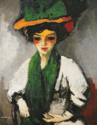 Kees Van Dongen. The woman in the green hat
