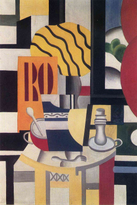 Fernand Leger. Still life with a candlestick