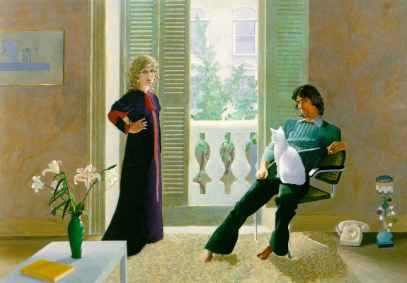 David Hockney. Mr and Mrs Clark and Percy