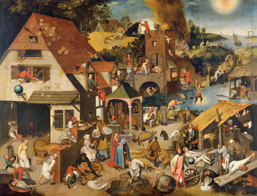 Peter Brueghel The Younger. The Flemish Proverbs (canvas)