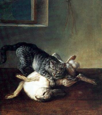 Johann (Ivan Fedorovich) Friedrich Groot. Cat and dead hare