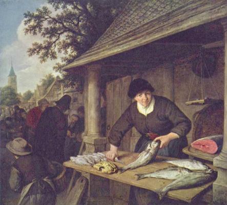 Адриан ван Остаде. Торговка рыбой