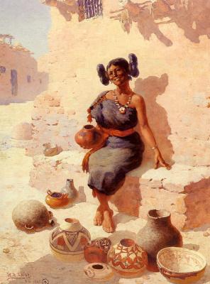 Уильям Робинсон Ли. Хопи. Торговка керамикой