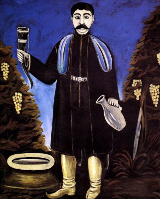 Niko Pirosmani (Pirosmanashvili). Prince with a horn of wine