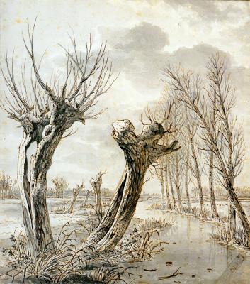 Абрахам ван Стрий. Зимний пейзаж
