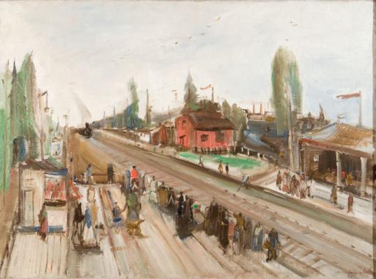 Александр Аркадьевич Лабас. Поезд в Москве