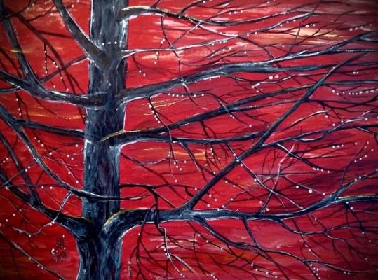 Marina Bocharova. Tree after rain