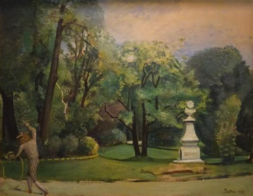 Balthus (Balthasar Klossovsky de Rola). The Luxembourg Gardens