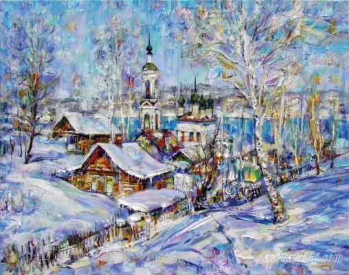 """Nikolay Vasilyevich Maksimychev. """"At the end of February"""""""