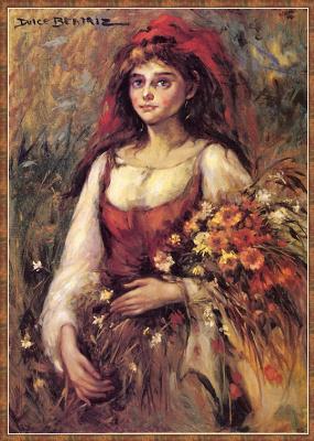 Дульсе Беатрис. Девушка с цветами